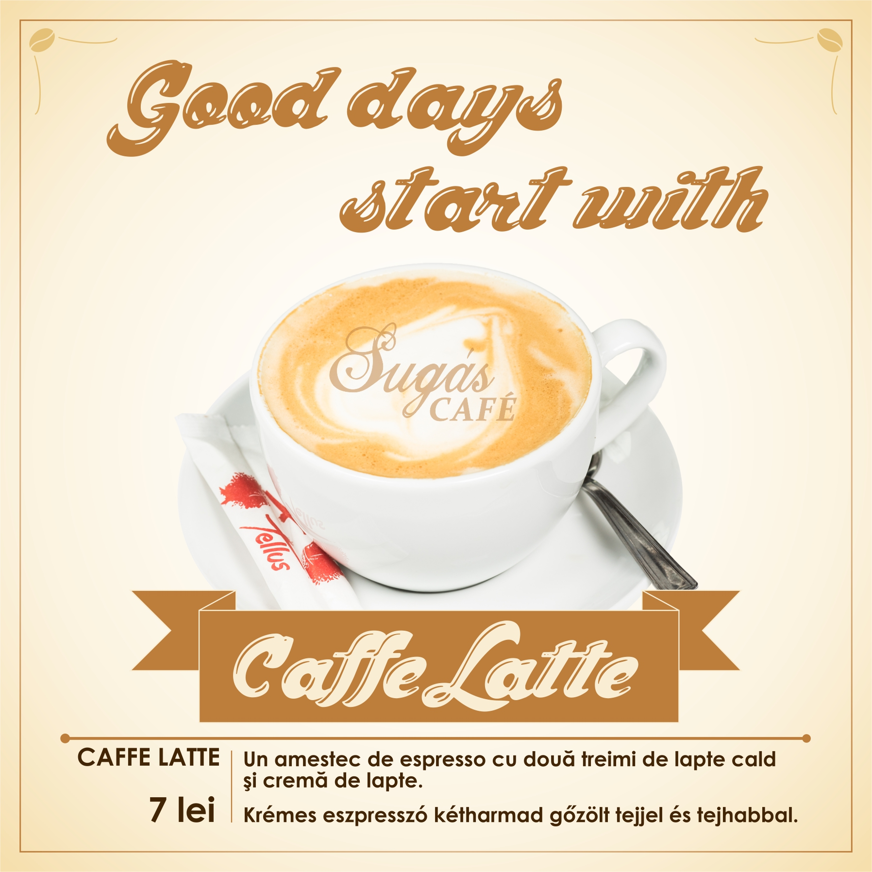 Sugas Cafe menu CAFFE LATTE