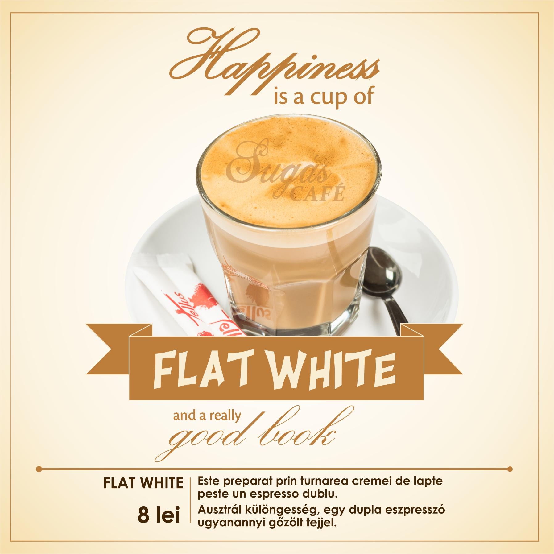 Sugas Cafe menu FLAT WHITE