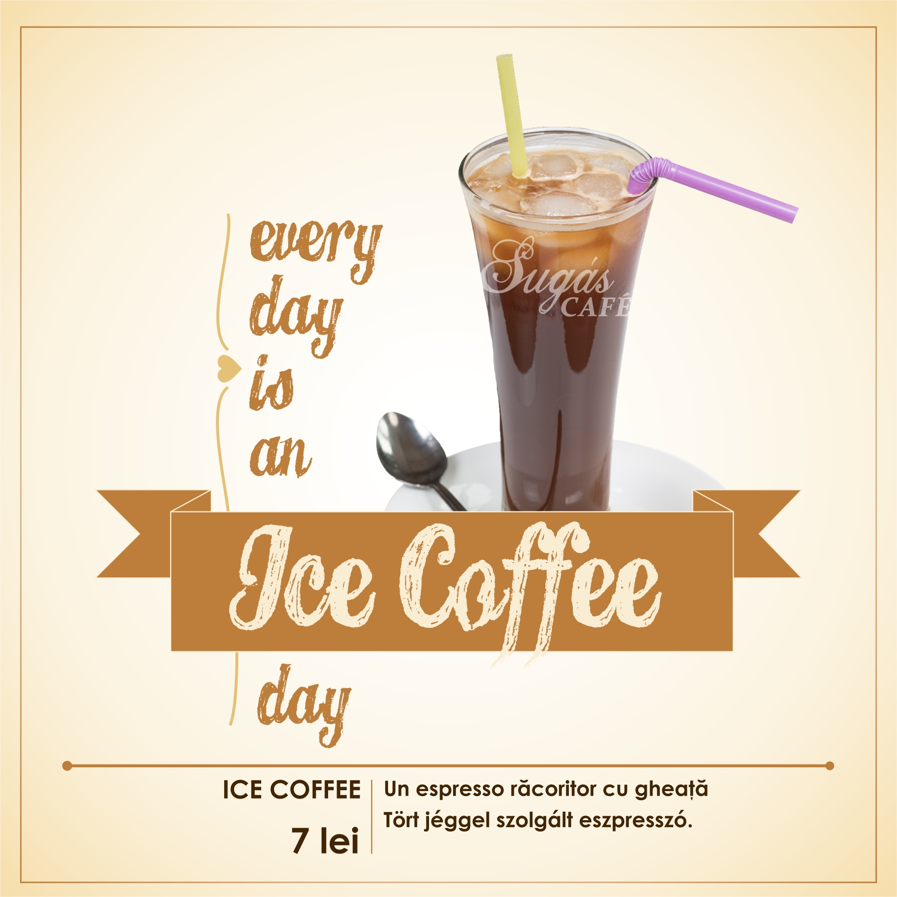 Sugas Cafe menu ICE COFFEE